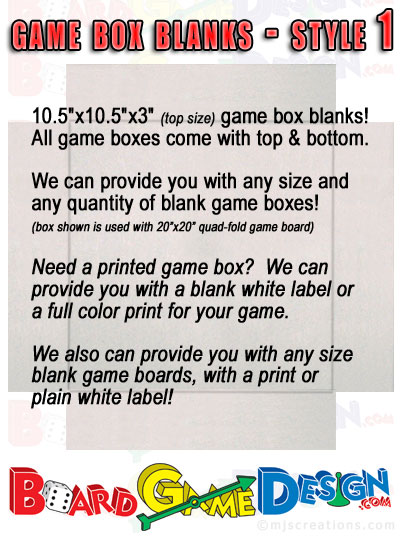 Game Box Blanks