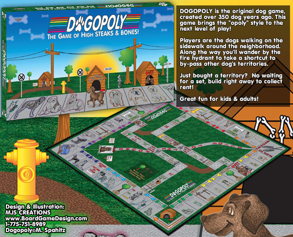 DOGOPOLY - The Game of High STEAKS & BONES!©Spa-Hits Games