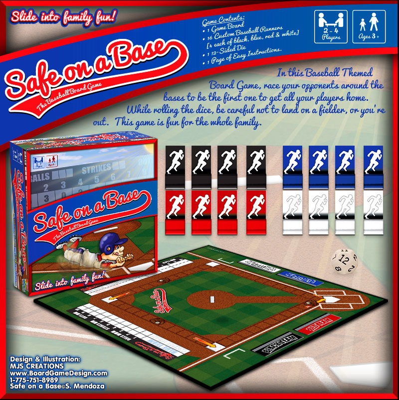 Safe on a Base - The Baseball Board Game©S. Mendoza